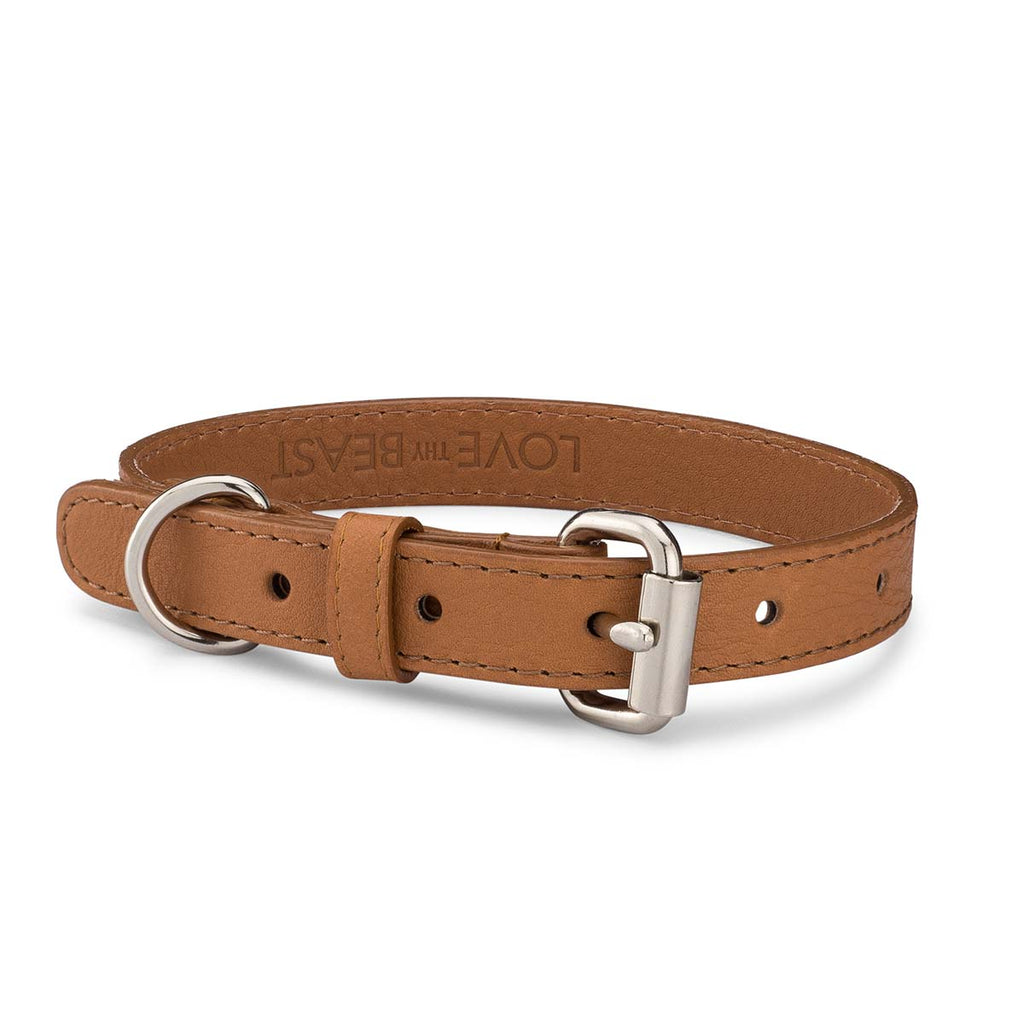Caramel Pebble Leather Collar