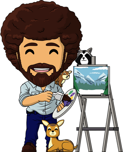 Concept of Bob Ross & Friends