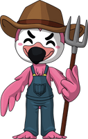 Farmer Flamingo