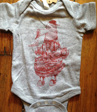 Philly Phanantic Custom Art Baby Onesie
