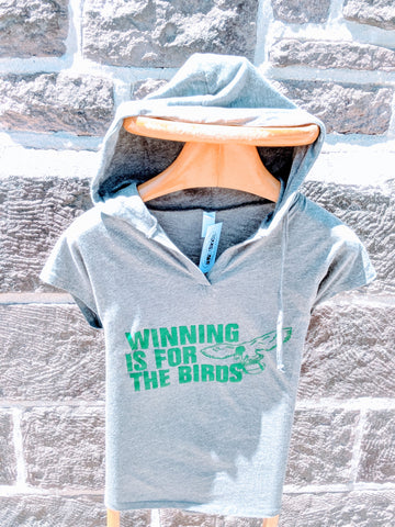 Ladies Winning is for the birds V-neck hood