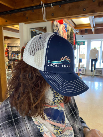 Local love Doylestown mesh navy trucker