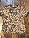Leopard girls ringer GRITTY IS THE NEW PRETTY