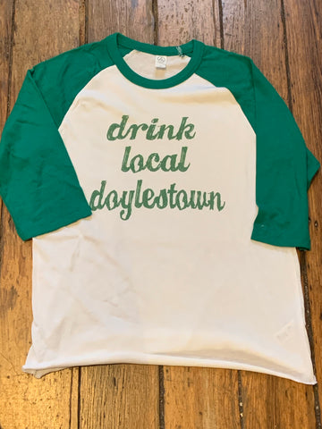 Drink local Doylestown 3/4 Sleeve Raglan