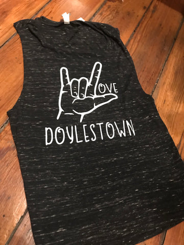 Ladies I Love Doylestown Sign Tank