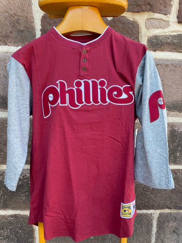 Phillies throwback 3/4 Henley