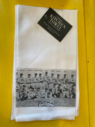 1913 Phillies kitchen towel