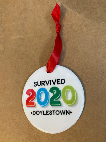 Doylestown 2020 ceramic ornament