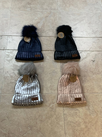 Sequin Knit Hats