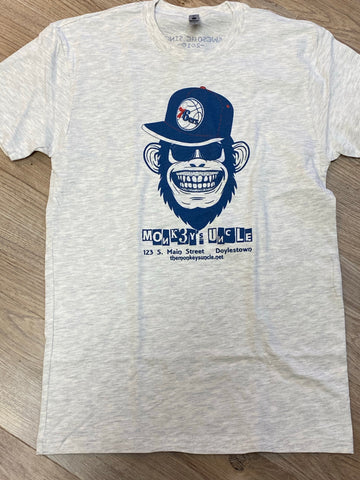 Monkeys Uncle Sixers branded tee