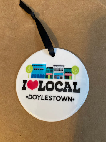 I love local Doylestown Ornament