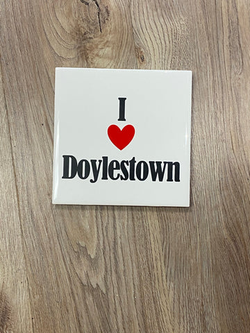 I love Doylestown ceramic coaster