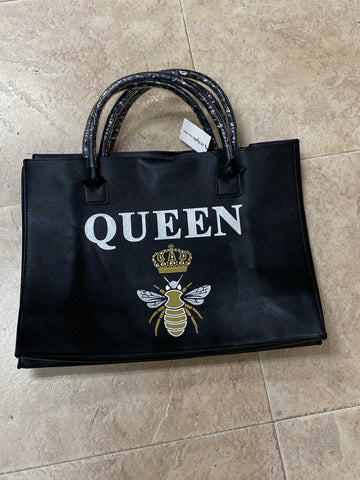 Queen bee vegan tote