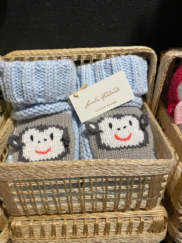 Monkey crochet booties