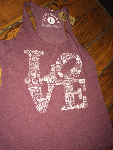 Ladies Philly LOVE Paul Carpenter Tank Top