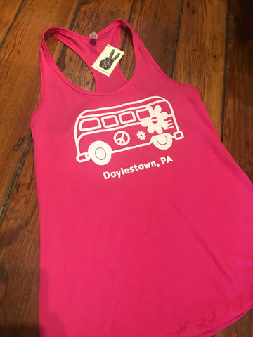 Ladies Doylestown Peace Bus Tank