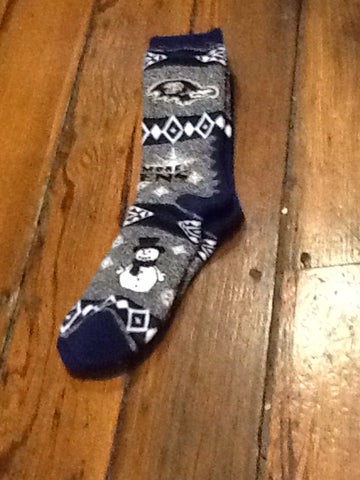 Baltimore Ravens Holiday socks