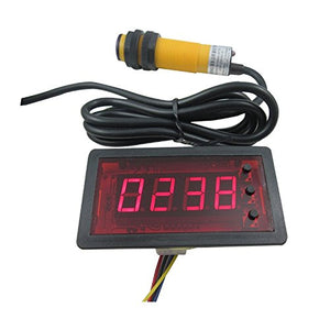 DIGITEN 12V 4 Digit Red Counter Meter+Infrared Proximity Photoelectric Switch Sensor NPN
