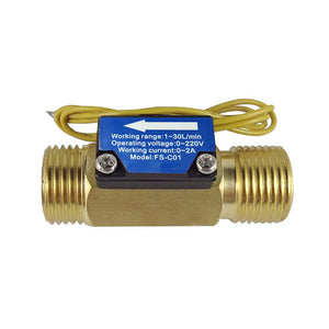 "DIGITEN FS-C01 G1/2"" Male Thread Water Flow Switch with Filter 0-2A/ 0-220V(AC or DC)"