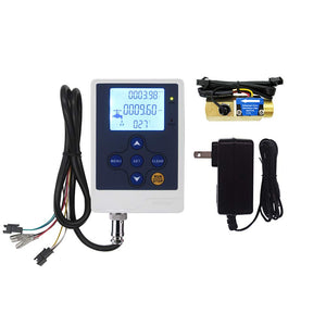"DIGITEN Water Flow Control LCD Display+G1/2""Thread Water Flow Hall Sensor Flowmeter with Temperature Sensor"