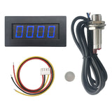DIGITEN 4 Digital LED Tachometer RPM Speed Meter+Hall Proximity Switch Sensor NPN Blue