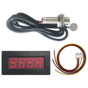 DIGITEN 4 Digital LED Tachometer RPM Speed Meter+Hall Proximity Switch Sensor NPN Red