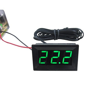 SENSTREE DC 12V Green Digital LED Thermometer + 2m Probe -50~110C Temperature Detector