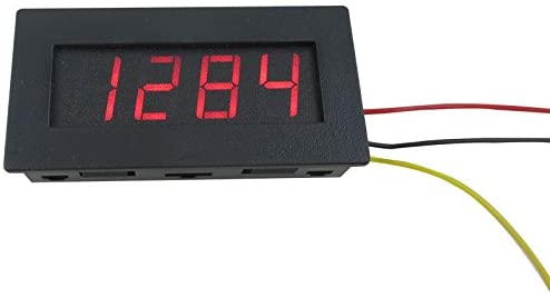 SENSTREE Car Motorcycle 4 Digital Motor Tachometer Speed Measure Meter 5-9999 RPM LED Red