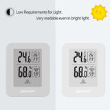 DIGITEN TH30E Digital Hygrometer Indoor Thermometer E-Ink Screen Thermostat Humidity Gauge Swiss SENSIRION Sensor High Accuracy Temperature Humidity Monitor for House Garage Greenhouse Wine Cellar
