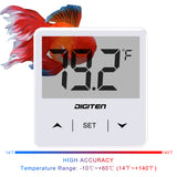 DIGITEN Fish Tank Thermometer Digital Aquarium Thermometer with Large LCD Display Stick On Terrarium Coral Tanks Temperature Sensor Gauge for Reptiles Turtle Lizard Amphibians