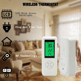 DIGITEN WTC100 Wireless Thermostat Plug-in Temperature Controller Outlet Remote Control Built in Temp Sensor Thermometer Heating Cooling Mode for Fan Heater Greenhouse Home Brew Reptile
