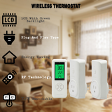 DIGITEN WTC100 Wireless Thermostat (with 2 Receivers) Plug-in Temperature Controller Outlet Programmable Remote Control Thermometer Heating Cooling Mode for Fan Heater Greenhouse Home Brew Reptile