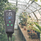 DIGITEN Temperature and Humidity Controller DHTC-1011 Pre-Wired Dual Stage Outlet Digital Thermostat Humidistat for Reptile Terrarium Mushroom Greenhouse Home Brew Fermentation