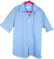 kids' electric blue stripe SS