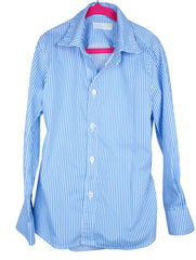 kids' electric blue stripe LS