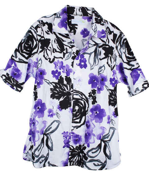 kids' purple pansies SS