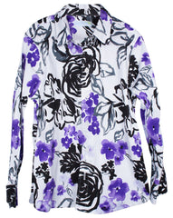 kids' purple pansies LS