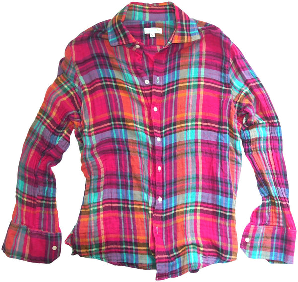 fuschia crinkleplaid