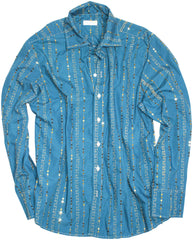 blue bejeweled LS