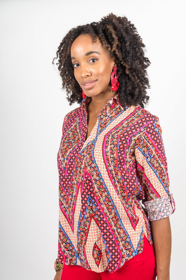 indian diagonals tunic