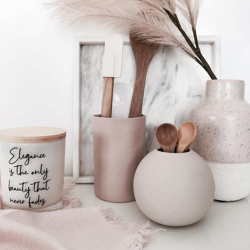 Quote Candle | Elegance is the only beauty | size large