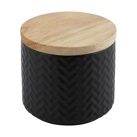 Black Geo Canister Candle