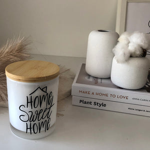 Quote Candle | Home Sweet Home | size large