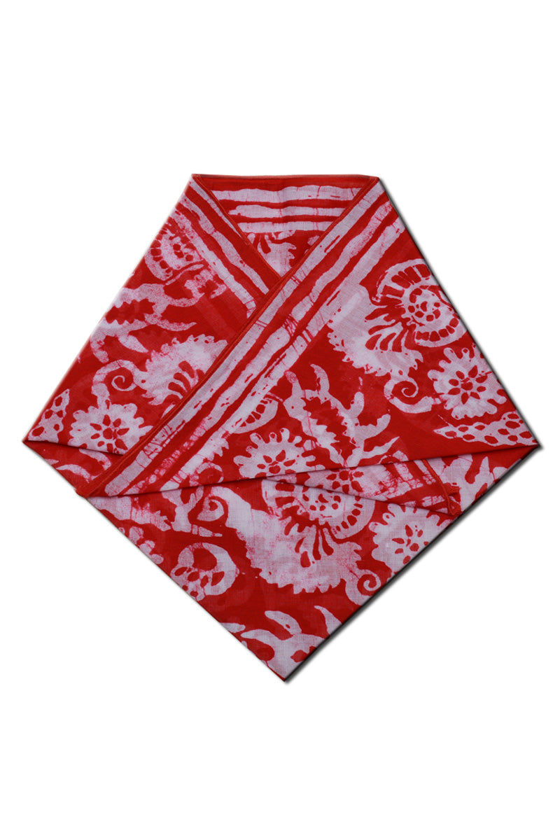 Cotton batik bandana sea shell