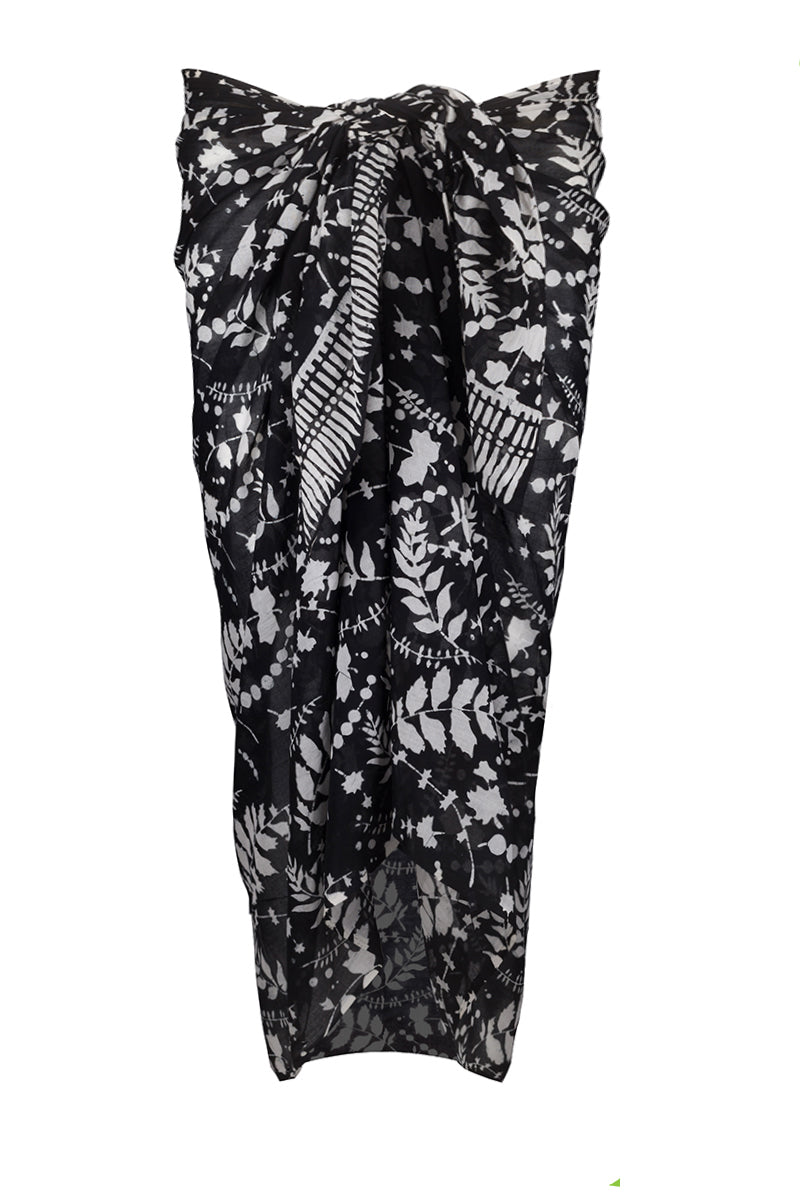 Men's Sarong Black & White