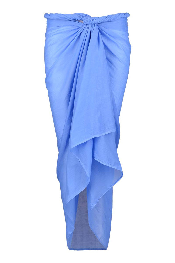 sarong cotton voile blue