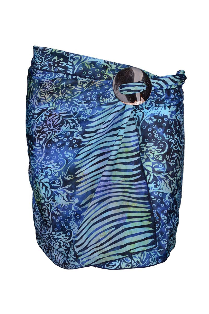 Blue Mix - Min Sarong Silk