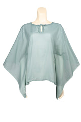 caftan top voile ice berry green