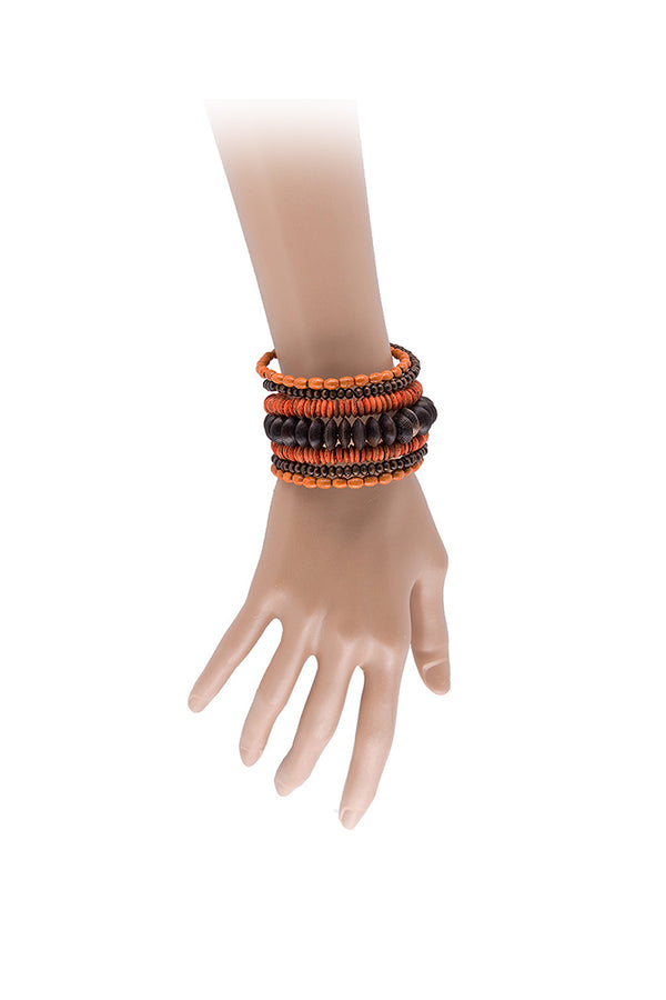Orange Bangle Multi Seeds