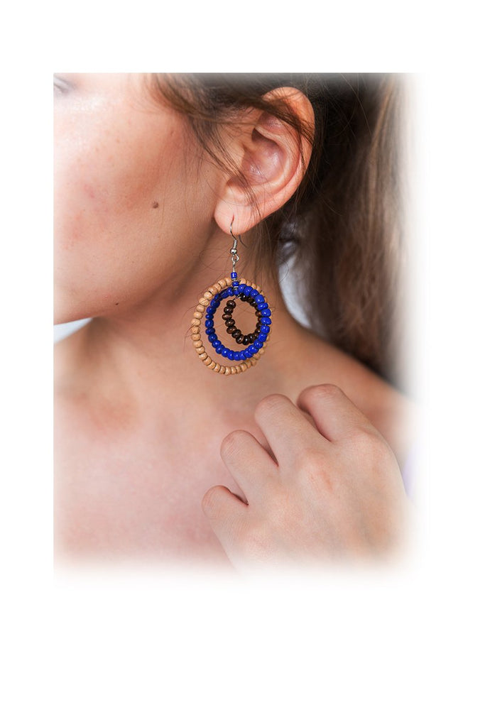 Earrings Circles Beads
